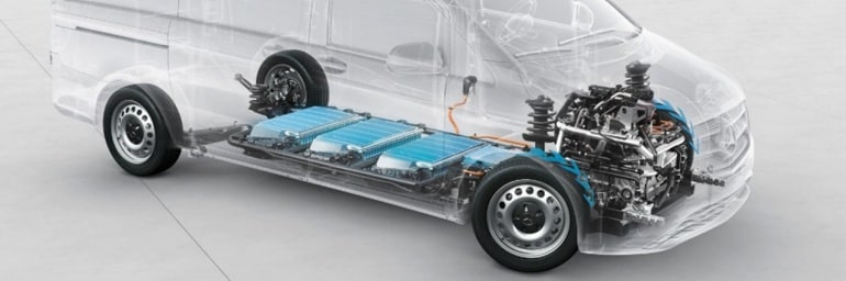 The battery system in the Mercedes-Benz eVito