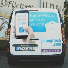 The Citan from Jonny Fresh with advertising