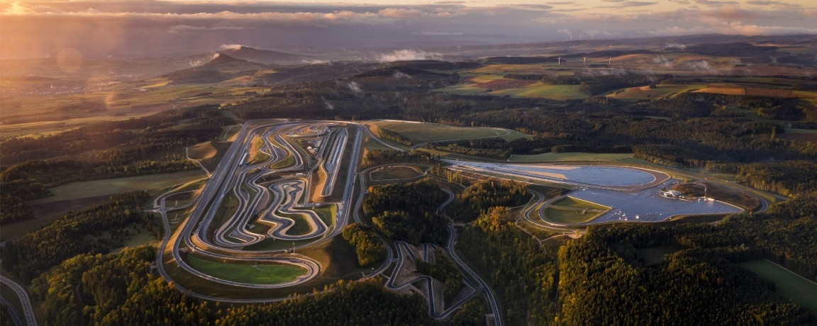An aerial shot of the Immendingen test track
