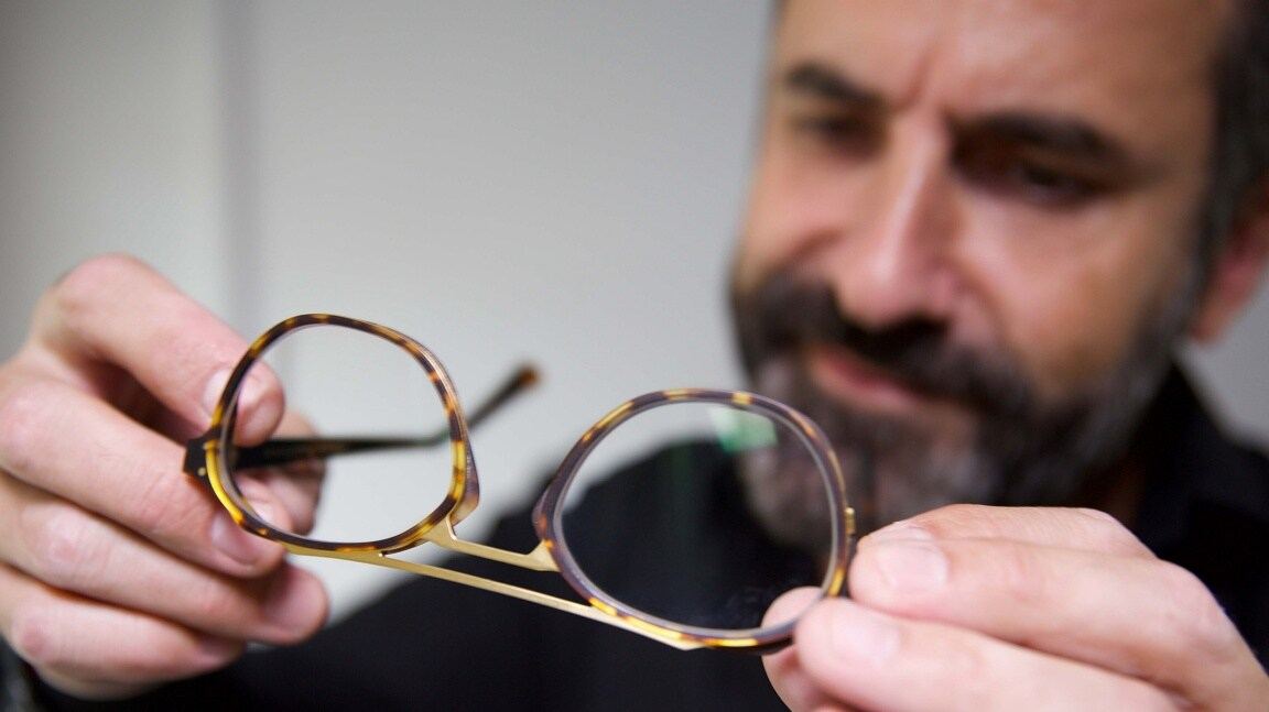 Jeremy looks at the pair of glasses with a scrutinising glance