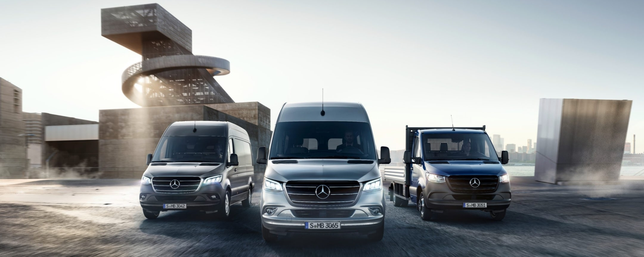 The new Sprinter as a Panel Van, Tourer and Platform Vehicle.